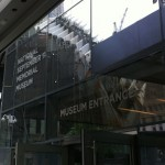 9/11 Museum Entrance, Construction sites reflected
