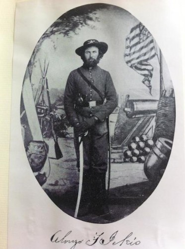 Alonzo Ickis, an Iowa farmer turned Colorado gold miner who fought for the Union in New Mexico, 1861-1863.