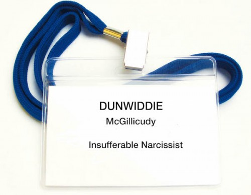 Badge 1 -- Narcissist