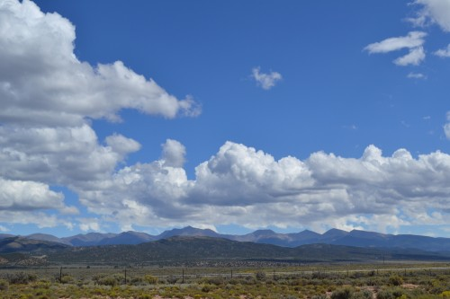 The Culebra Range, to the east of the Taos Trail from San Luis to Rio Colorado.