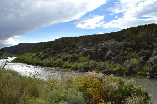 The Rio Grande as it flows southward from Taos and out of the Rio Grande Gorge.