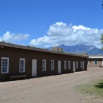 Infantry Barracks building at Fort Garland. Little Bear, Blanca, and Lindsey Peaks in the distance.