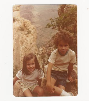 My brother and myself on the rim of the Grand Canyon during a summer vacation road trip, circa 1976.
