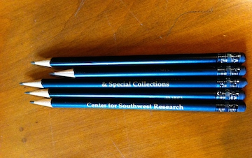 Pencils, Center for Southwest Research, University of New Mexico, Albuquerque.