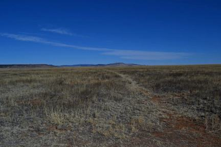 Remnants of the Santa Fe Trail outside Fort Union, New Mexico